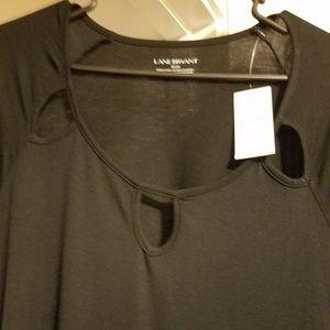 Lane Bryant black top. 22/24. Plus Size